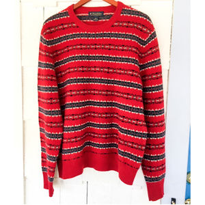 Brooks Brothers Lambswool Fair Isle Crew Sweater